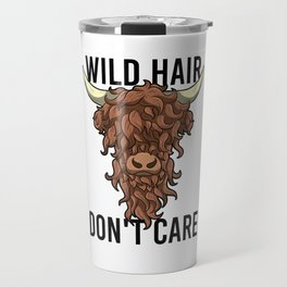 Wild Hair Don't Care Hipster Hairstyles Gift Travel Mug