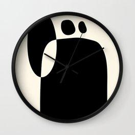 shapes black white minimal abstract art Wall Clock