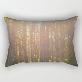 Sunlight in the Forest Rectangular Pillow