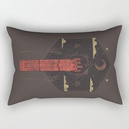 The Crimson Tower Rectangular Pillow
