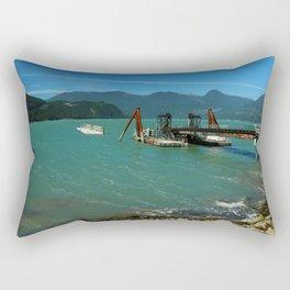 Old Pier Near Sea to Sky Highway Rectangular Pillow