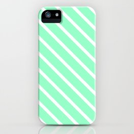 Mint Julep #2 Diagonal Stripes iPhone Case