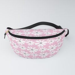Daisies In The Summer Breeze - Pink Grey White Fanny Pack