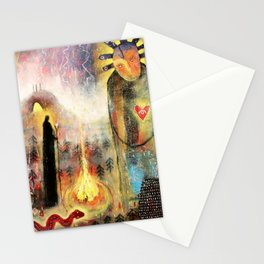 Meeting With The Tröllkona Stationery Cards