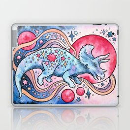 Star Tricera | Cosmic Dinosaur Watercolor Laptop & iPad Skin