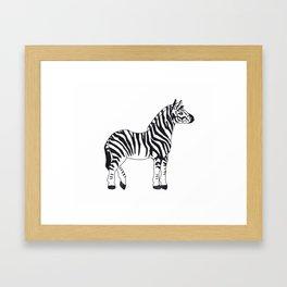 Zebra Stan Framed Art Print