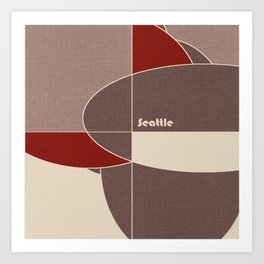Seattle Mosaic Art Print
