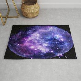 Galaxy Planet Purple Blue Space Rug
