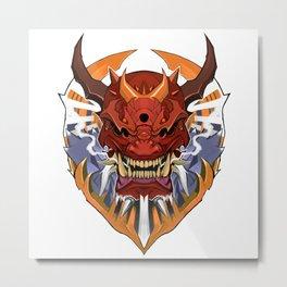 Oni Wrath Metal Print