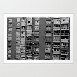 Block of flats. Bee project.  Art Print