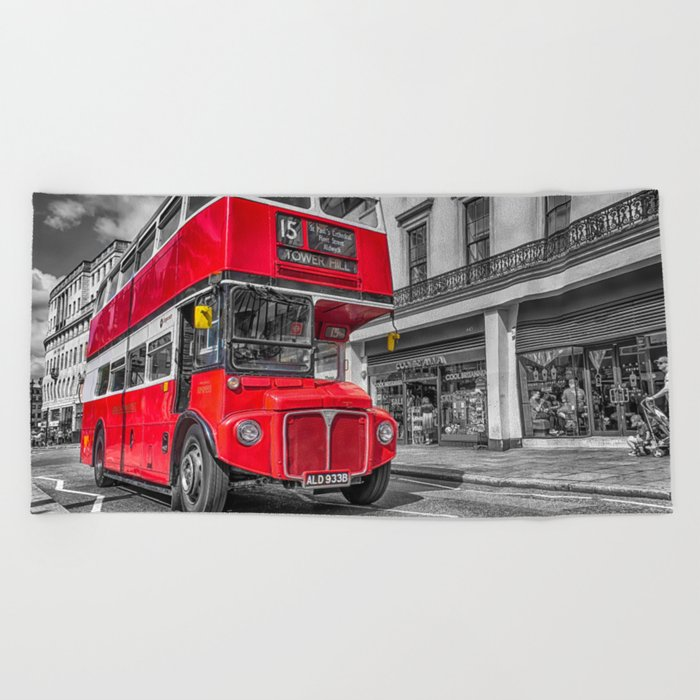 London Routemaster 15 Beach Towel
