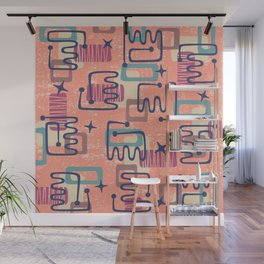 Mid Century Modern Abstract Pattern 951 Wall Mural