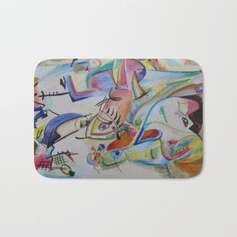 inspiration from Kandinsky . illustration . Bath Mat