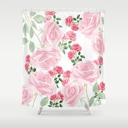 pink rose patterns Shower Curtain