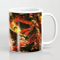 camp Mugs featuring Camp Fire by James Peart