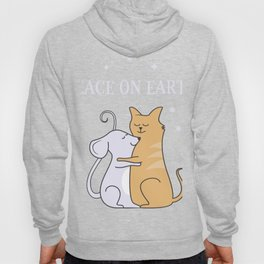 Peace on earth Mouse & Cat Hoody