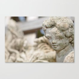 Stone Cherub Canvas Print