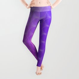 Pink to Purple Scale Ombre Circle Gradient Leggings
