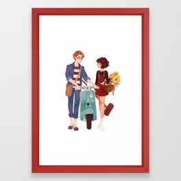 Kiki and Tombo Framed Art Print
