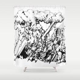 interpopfj;asod Shower Curtain