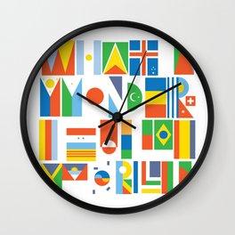 What A Wonderful World II Wall Clock