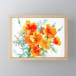 California Poppy Framed Mini Art Print
