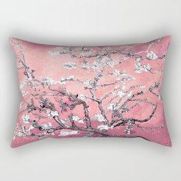 Van Gogh Almond Blossoms : Peachy Pink Rectangular Pillow