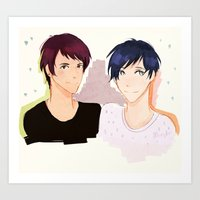 danisnotonfire Art Prints featuring HAIR COLOURS by Alliandoalice