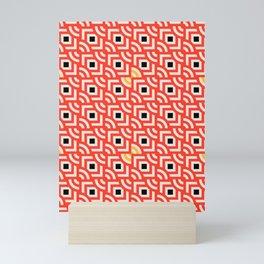 Round Pegs Square Pegs Red-Orange Mini Art Print