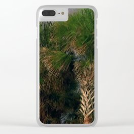 Palm Trees, Stormy Weather Clear iPhone Case