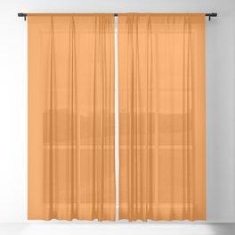 Seasonal Orange Sheer Curtain