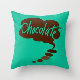 Think Chocolate + Mint! Throw Pillow