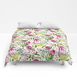 Protea Flower Bloom Comforters