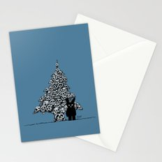The Black Bunny of Doom and his Skull Christmas tree Stationery Cards