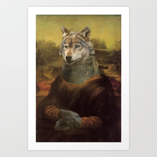 Furry Monnalisa  Art Print