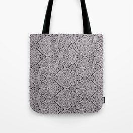 Grey Lace Coin Vintage Inspired Design Tote Bag