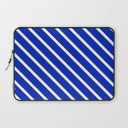 Sapphire Diagonal Stripes Laptop Sleeve