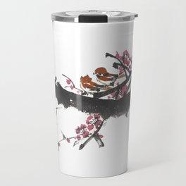 Cherry Blossom w/ Birds Travel Mug