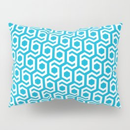 Modern Hive Geometric Repeat Pattern Pillow Sham