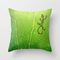 lizard Throw Pillows featuring lizard by Antracit