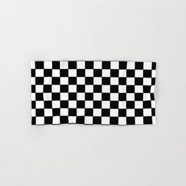 Checkers - Black and White Hand & Bath Towel