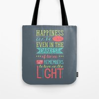 happiness Tote Bags featuring Happiness by Dorothy Leigh