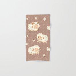 Cute Little Sheep on Brown Hand & Bath Towel