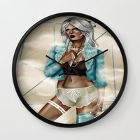 celestial Wall Clocks featuring CELESTIAL  by Enola Jay