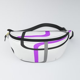 Geometric Rounded Rectangles Collage Purple Fanny Pack
