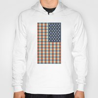 flag Hoodies featuring Plaid Flag. by Nick Nelson