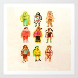 Team of 9 Warblers Art Print
