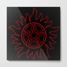 Anti Possession Sigil Red Glow Metal Print