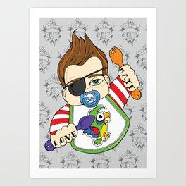 Tattooed Baby 002 Art Print
