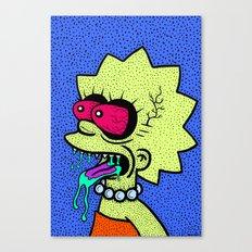 LISA GRIMMSON. (THE GRIMMSONS). Canvas Print